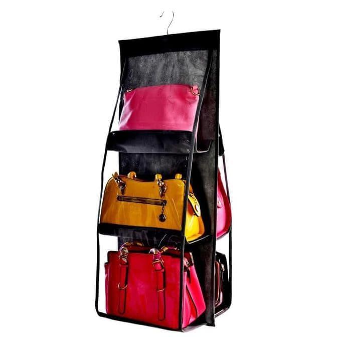 HEMAT Hbo - Hanging Bag Organizer Bag Dust Cover Gantung Import - Ungu 584469faff