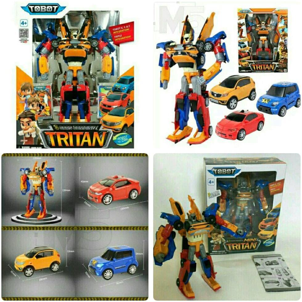 BELI Mainan Anak Robot Tobot Tritan Gabungan X Y Z 7b7912aa6d