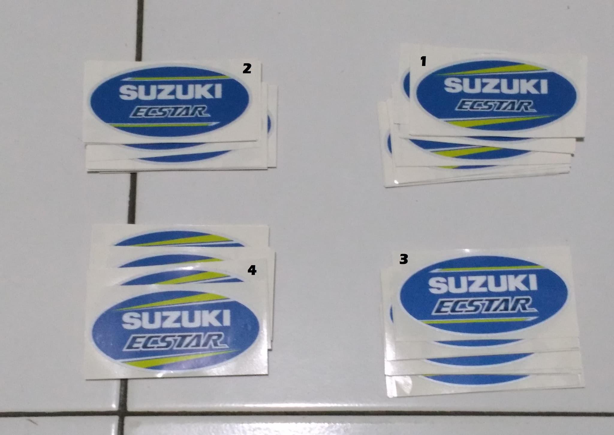Jual sticker 3m printing logo suzuki ecstar 10 x 5 cm universal