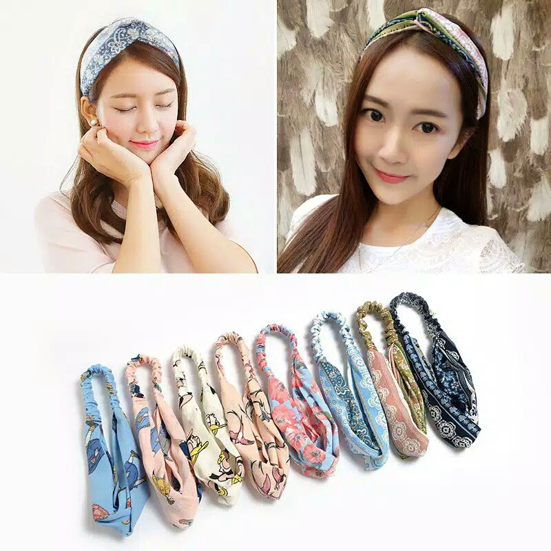 Bandana Wanita Korea Fashion Style - Lady Headband - F03 thumbnail