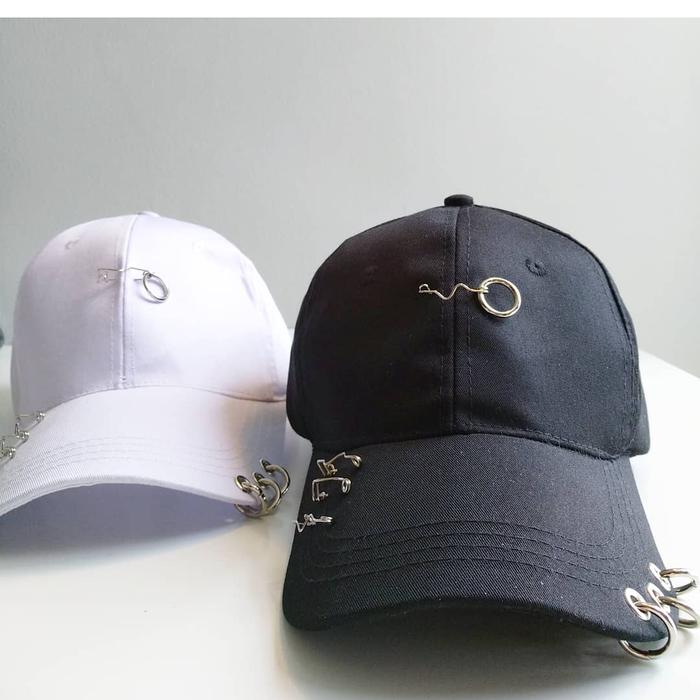 Jual Topi baseball RING peniti fashion wanita pria korea kpop import ... 4c94ab8125