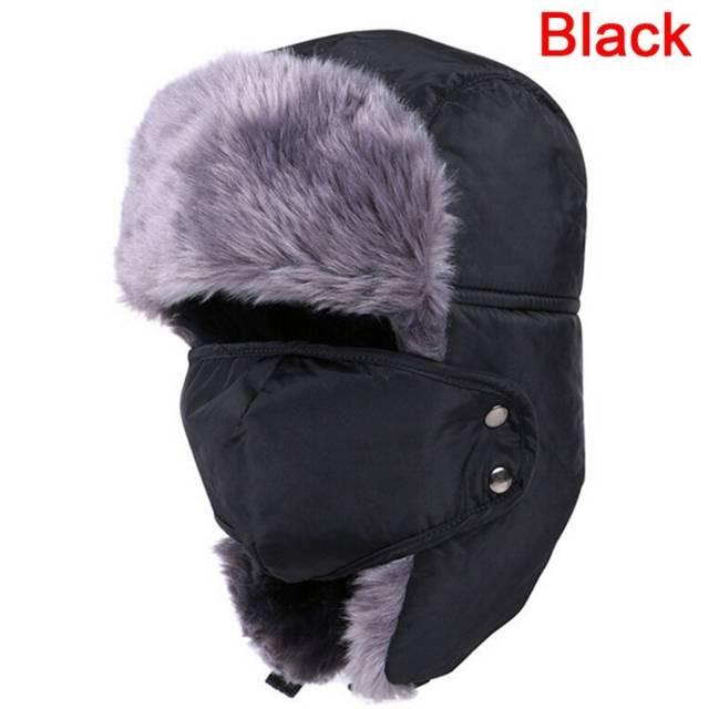 DISKON Winter Russian Hat   Mask Windproof Waterproof Topi Masker Rusia e76e6fa746