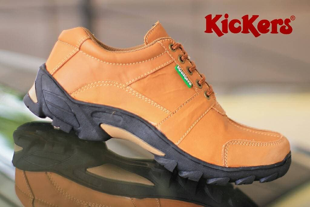 BELI Sepatu Boots Pria Kickers Corvette Gear Tan Kulit Asli Casual 6ed6716dca