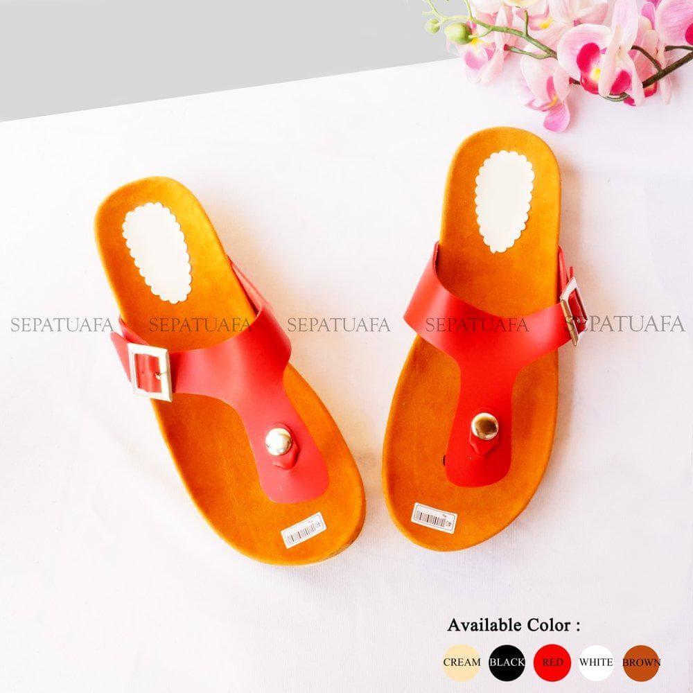 HEMAT Terlaris Sandal Sendal Wanita Jepit 1 Gepser St04 Putih 2298d33e1d