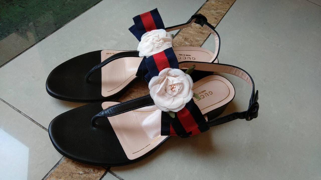 41482dee81d6e6 Jual Gucci Floral Web Sandals (Size 37) (Original) - Finesse Zone ...