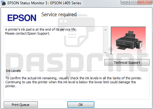 Epson L380 Ink Level Check