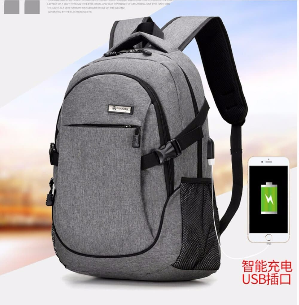 MURAH Tas Travel Ransel Laptop Oxford dengan USB Charger Port Arsy 386aea2807