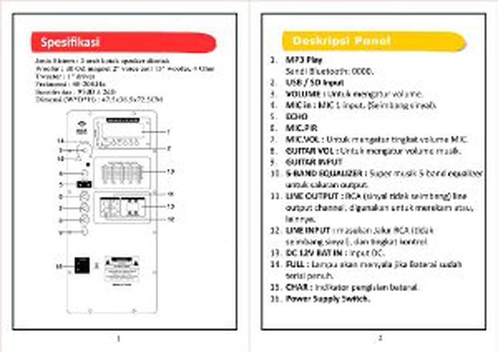 MURAH Speaker Aktif Pro Alpha Sound As112AM 12 inch Original d22982fb2e