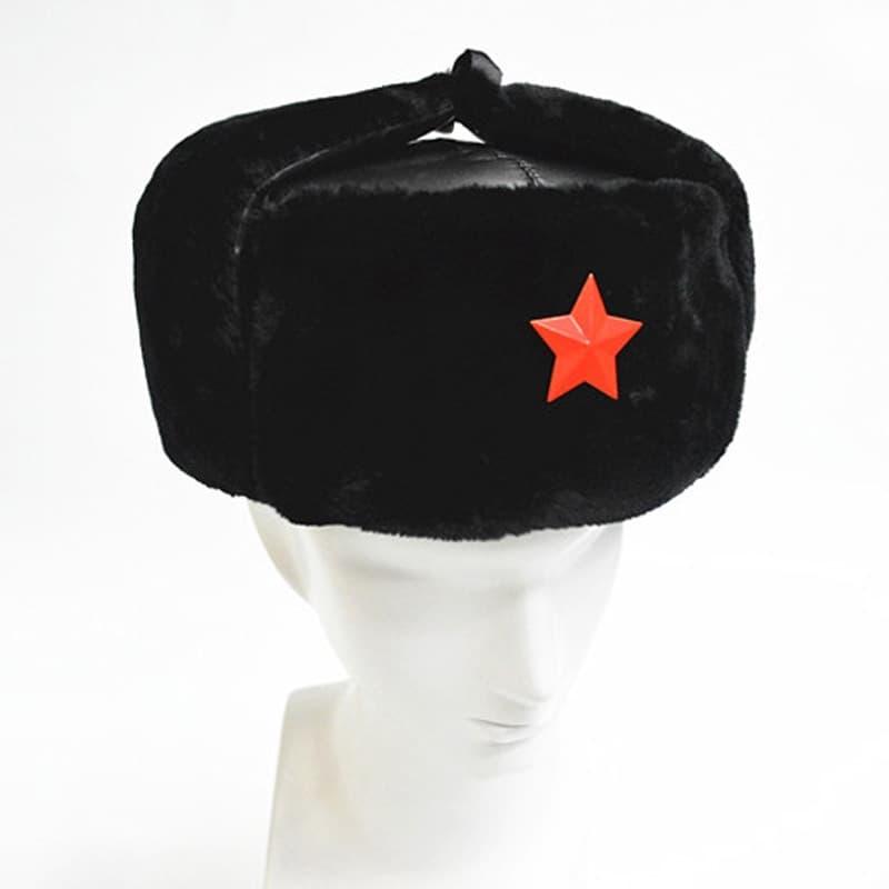 BELI Topi winter hangat red star rusia ushanka masker hat bomber bulu c21fd12c67