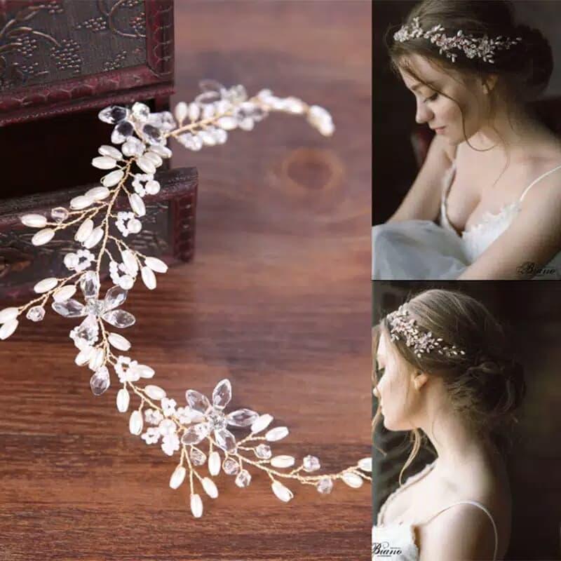 Bride Wedding Hair Accessories AR027 Headpiece Aksesoris crystal thumbnail