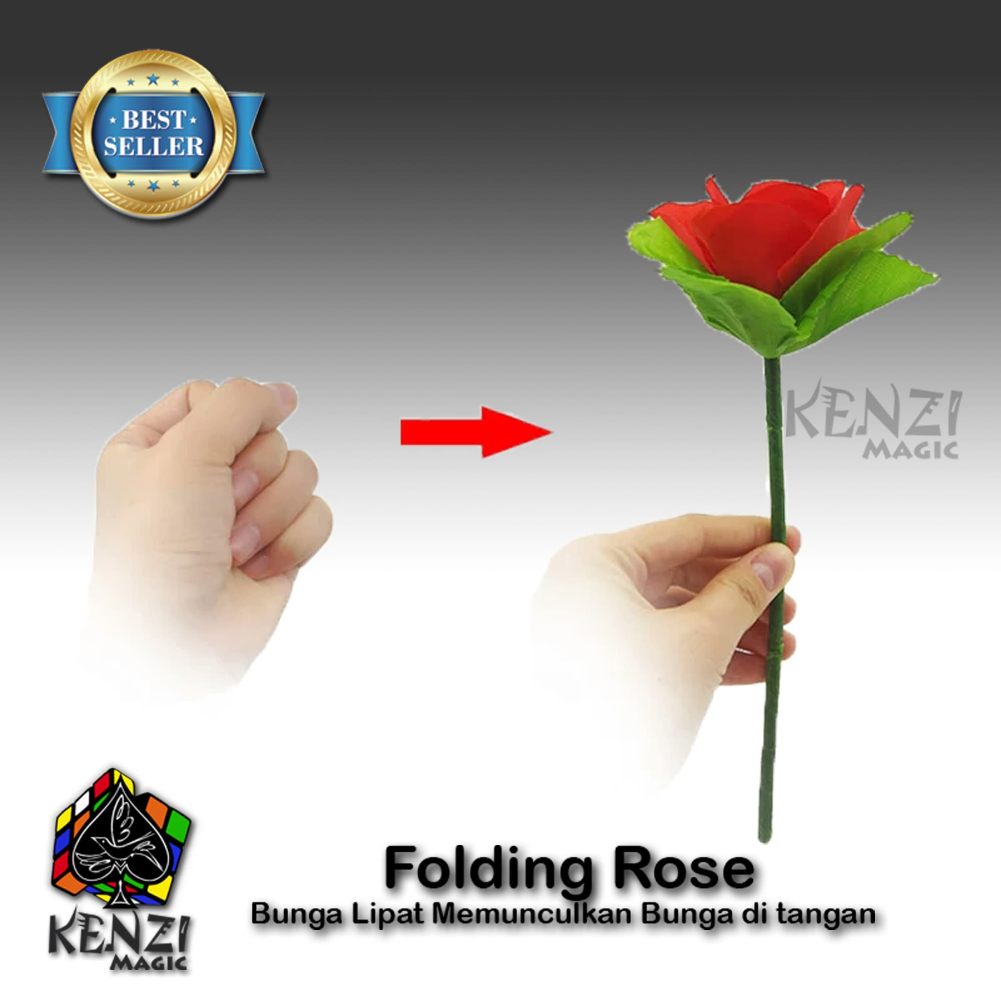 PENAWARAN Folding Flower I Bunga Lipat I Folding Rose I Sulap Memunculkan Bunga