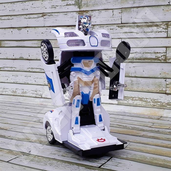 HEMAT Mainan Anak Mobil Robot Transformer 2 in 1 Bump & Go Mech Pioneer 8990