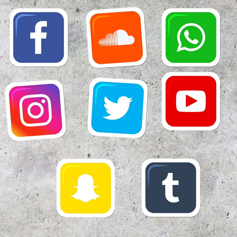 MURAH Stiker Media sosial untuk Laptop 29cdd1574e