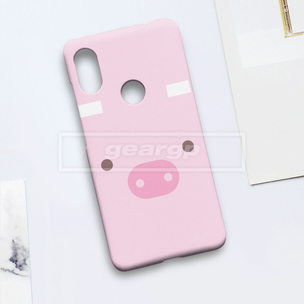 PENAWARAN Casing HP cute pig (animals) Xiaomi Mi 8 Pro Note 6 A1 A2 custom case