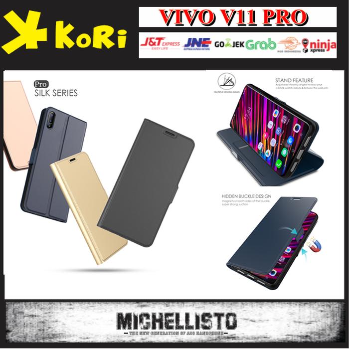 Jual Case Flip Cover Sarung Vivo V11 Pro Leather Premium Silikon Magnetic -  Bee Onlineshop85   Tokopedia