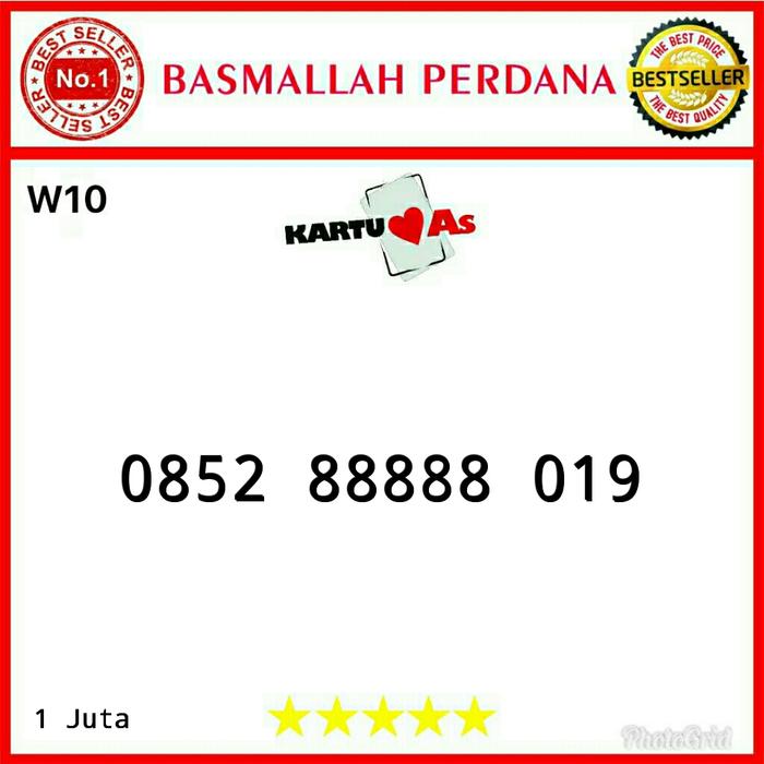 Nomor cantik Telkomsel As Panca 88888 0852 88888 019 RWR12
