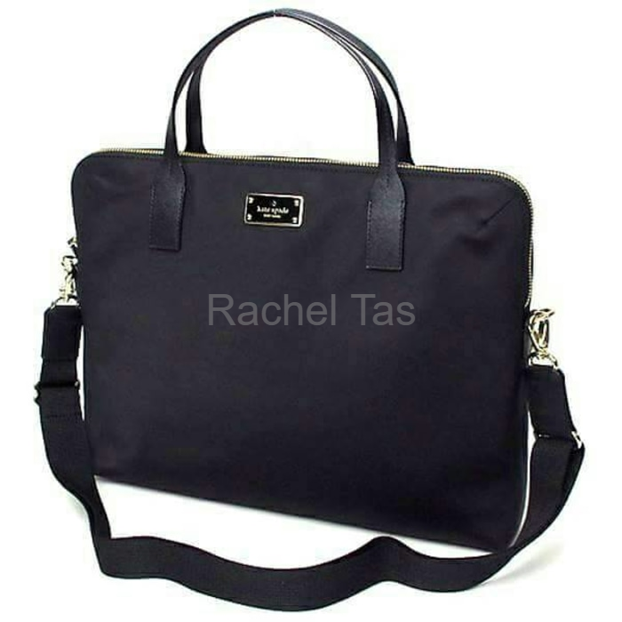 DISKON Kate Spade Laptop Bag Daveney Black Nylon NWT Tas Branded Original 38b3d0b829