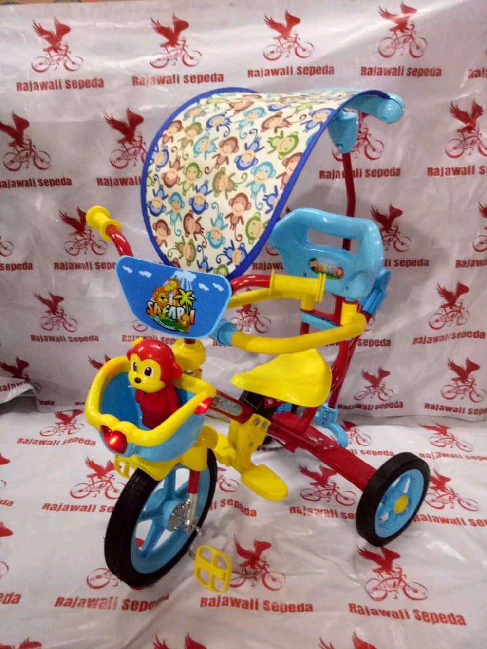 PENAWARAN sepeda anak roda tiga besi pmb 922 mainan ic musik keranjang BCfb273