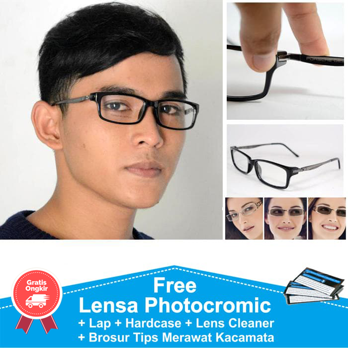 Jual Frame Kacamata Minus Photocromic Photogrey Anti Radiasi Berubah ... d48dbf94cd