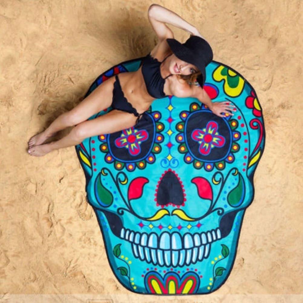 PENAWARAN Matras Yoga Handuk Pantai Syal Sifon Motif Print Tengkorak 60bd0436dc