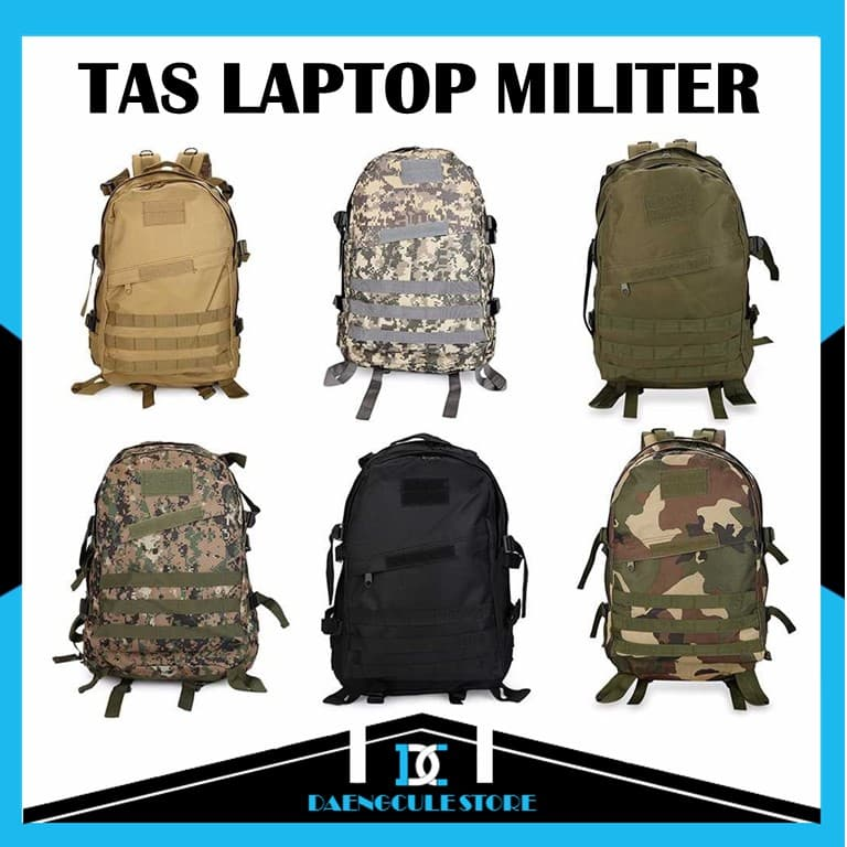 9a5a6f11d9 BELI Tas Premium Ransel Laptop Desain Militer 3D