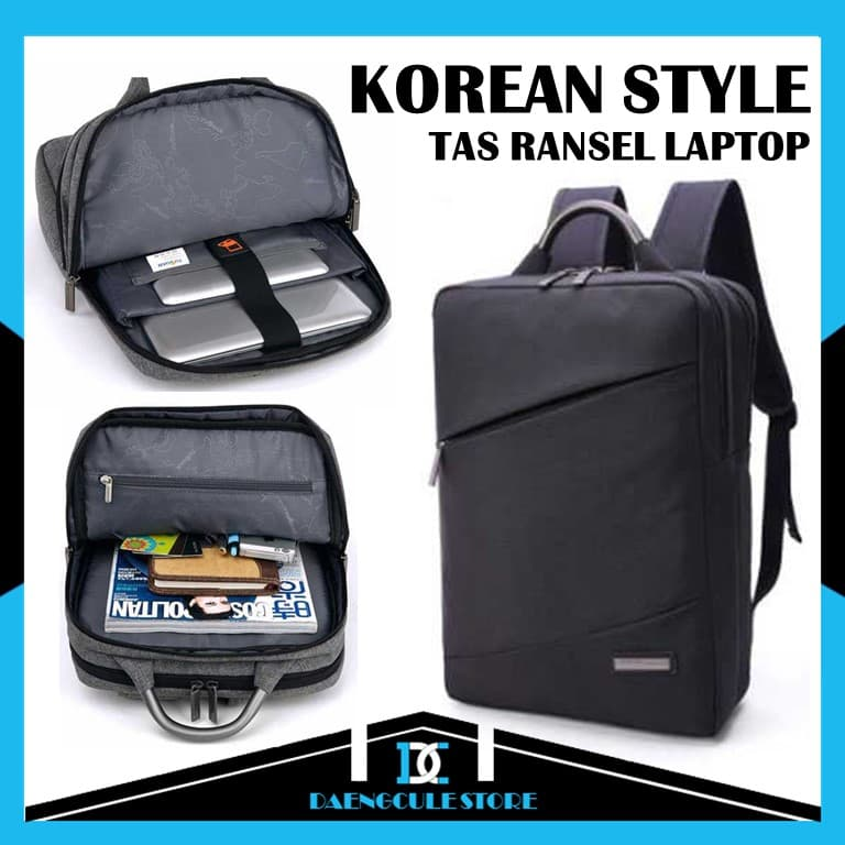 BELI Tas Ransel Laptop Korean Style Fit To 15.6 Inch Backpack Kekinian 4b8d5b0b2e