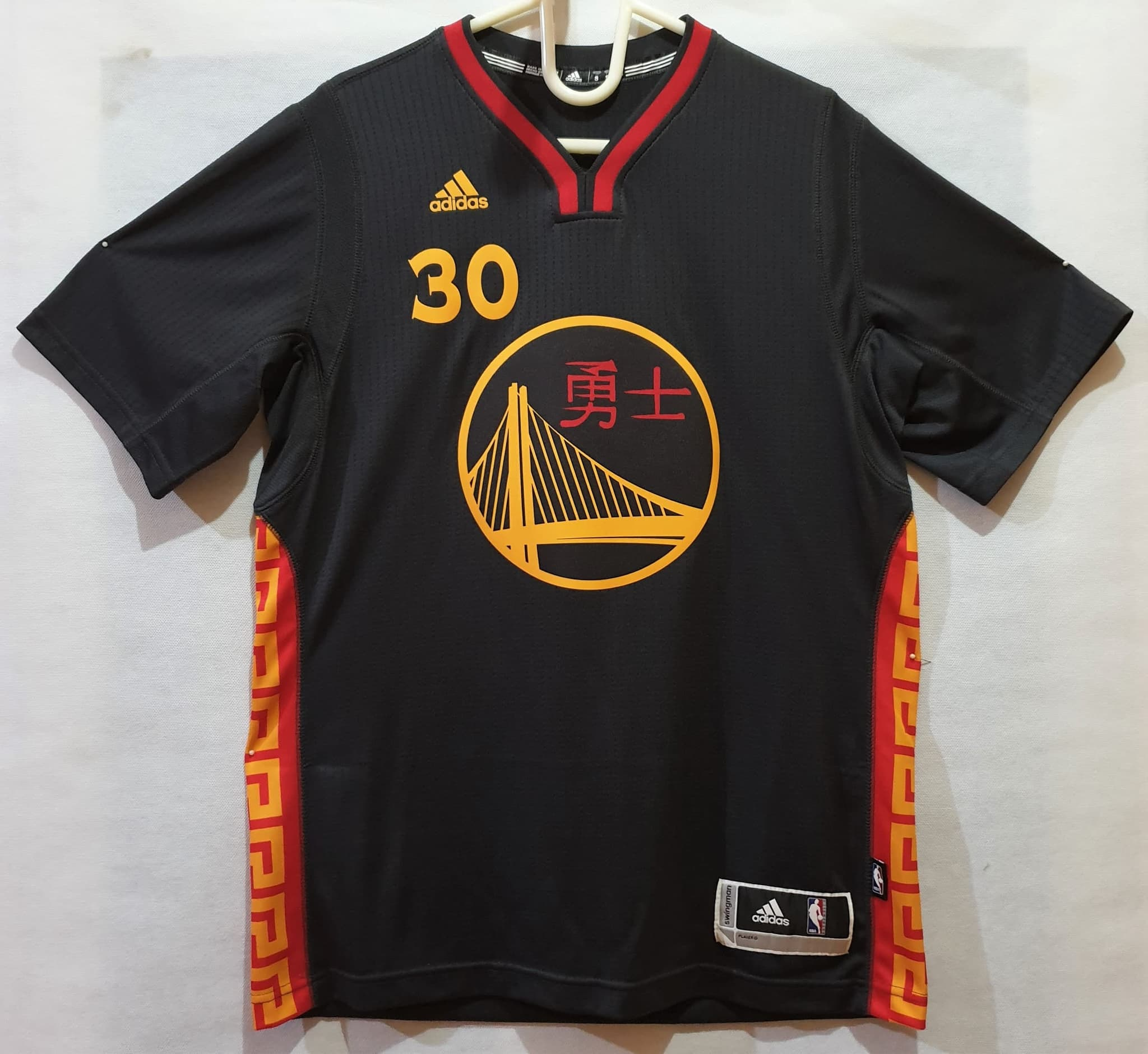 new products a0570 2dccb Jersey Warriors Stephen Curry Black Slate Chinese New Year