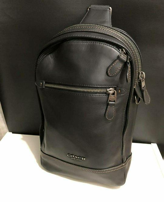 Tas Selempang Cowok Coach Original Men Sling Pack Bag Polgan Gra Black ddfd3ed25f