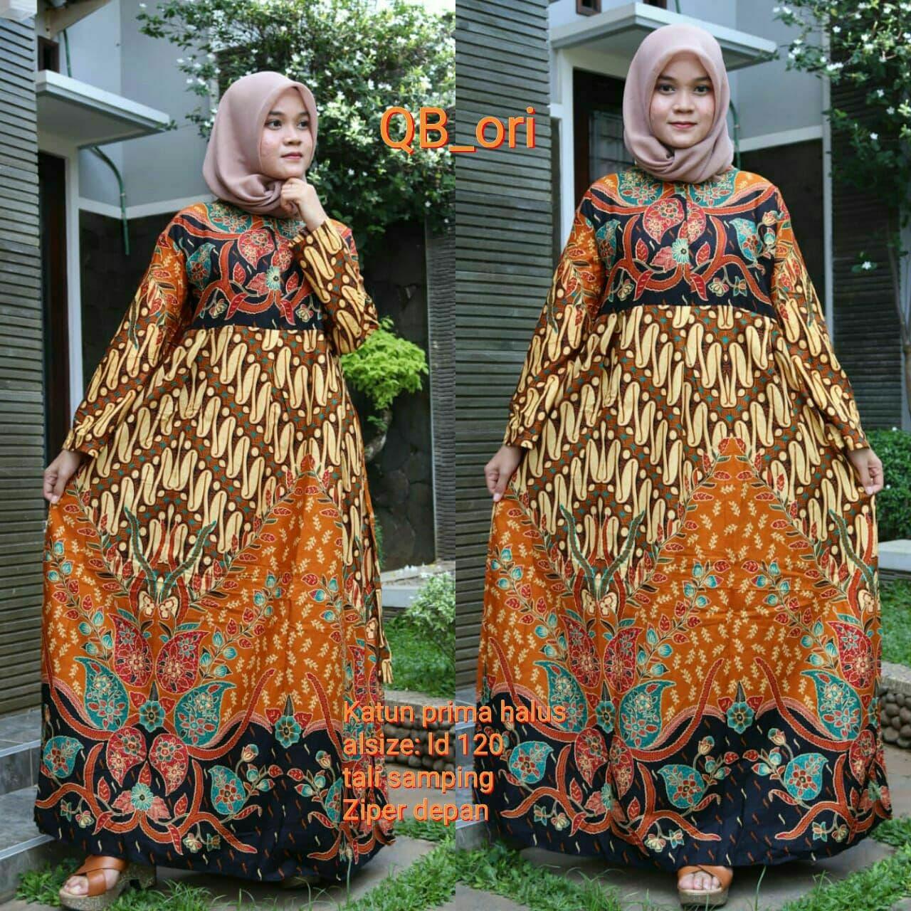 Download Desain Baju Gamis Batik Untuk Badan Gemuk ...