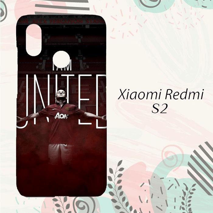 DISKON Casing Xiaomi Redmi S2 Custom HP I am United Manchester United L0162