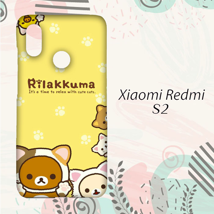 BELI Casing Xiaomi Redmi S2 Custom HP Rilakkuma With Cute Cats L0255 69d92bf64f