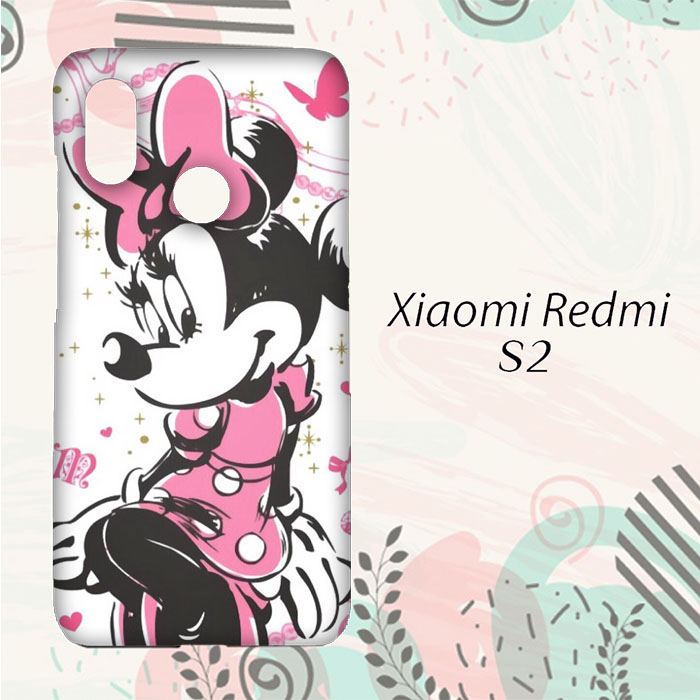 MURAH Casing Xiaomi Redmi S2 Custom HP Minnie Mouse Pink L0212 2271c1516e