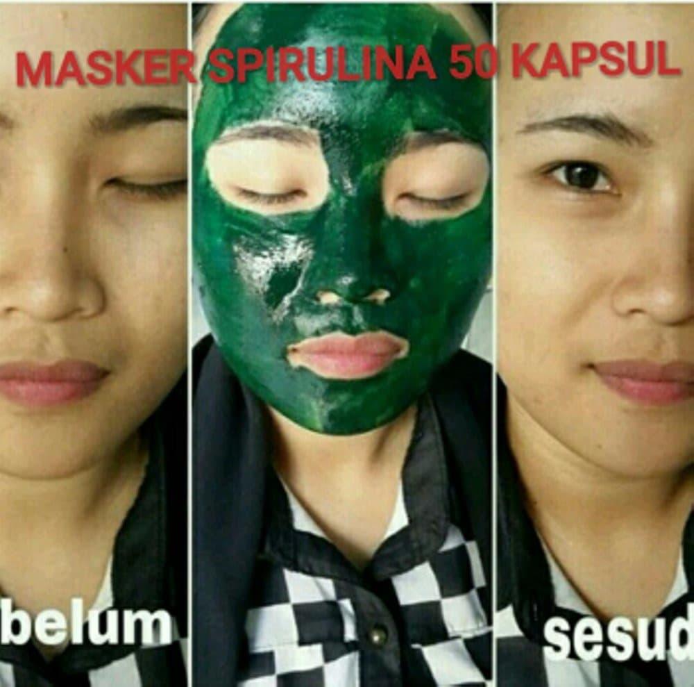 DISKON JUAL Masker Spirulina Tiens 50 Kapsul Wajah Cerah Kencang Putih Alami d0b16335b6