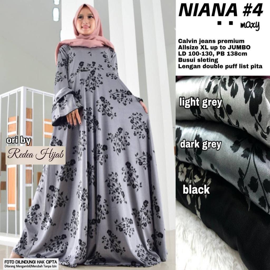 Jual baju wanita gamis niana#12 muslim modern modis lucu unik