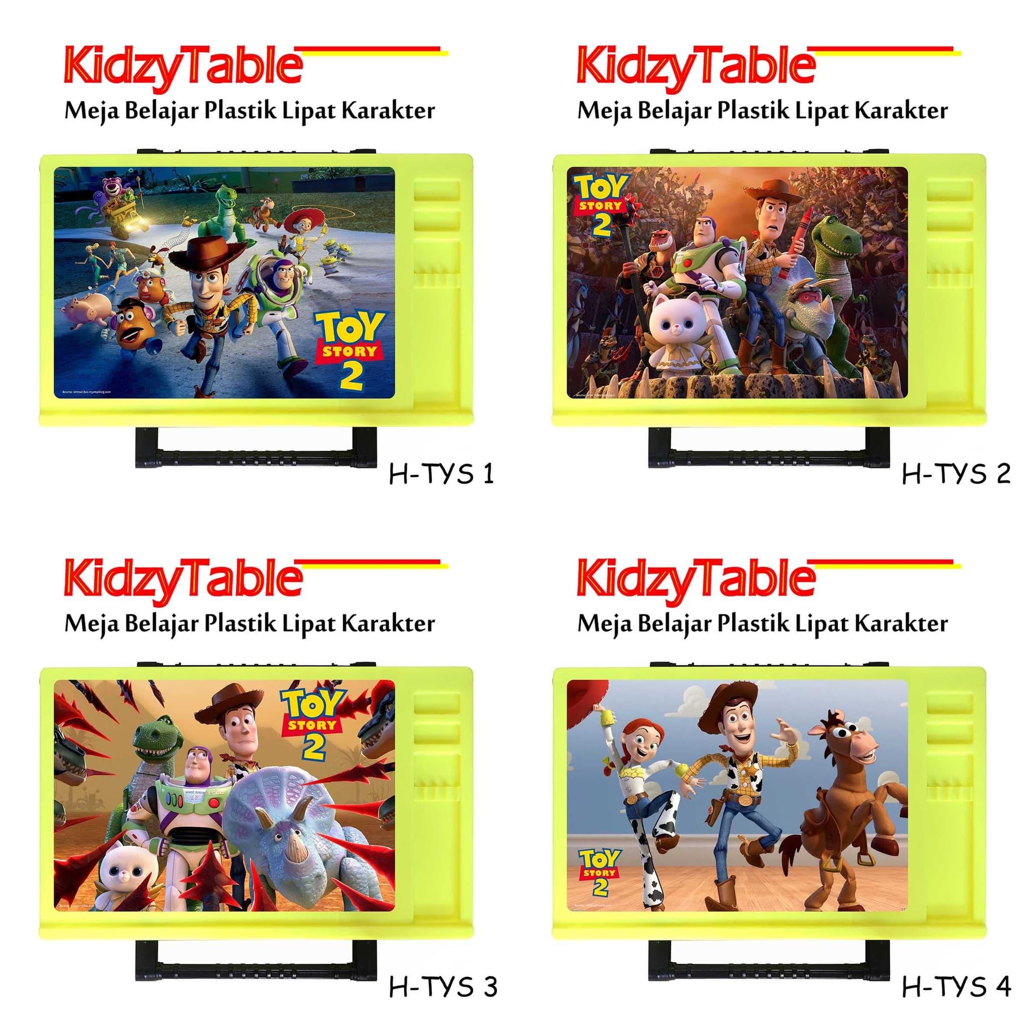 Jual Meja Belajar Lipat Anak KidzyTable Hijau Toy Story 05 KidzyTable