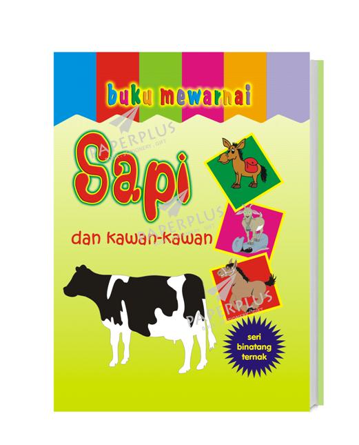 Jual Buku Mewarnai Binatang Ternak Sapi Paperplus Tokopedia