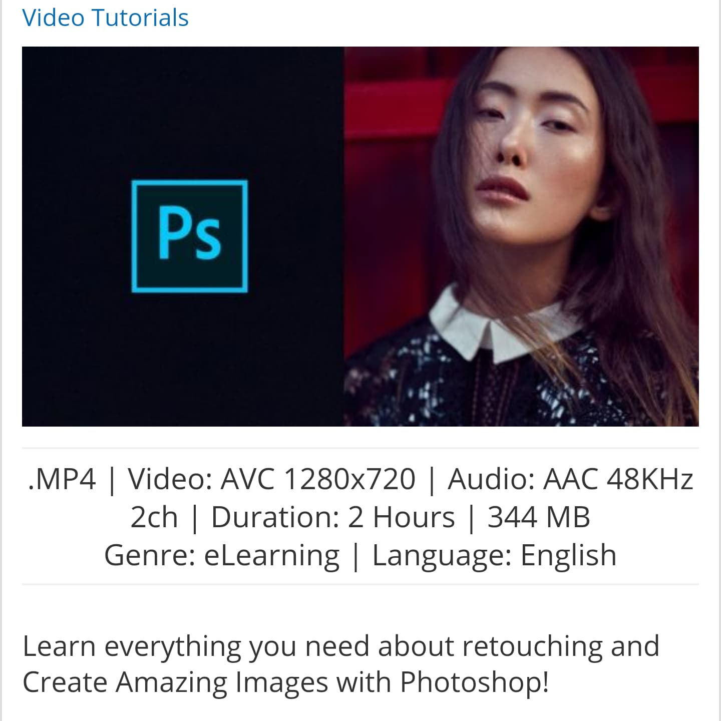 Jual Udemy - Retouching Essentials in Photoshop - lexatha | Tokopedia