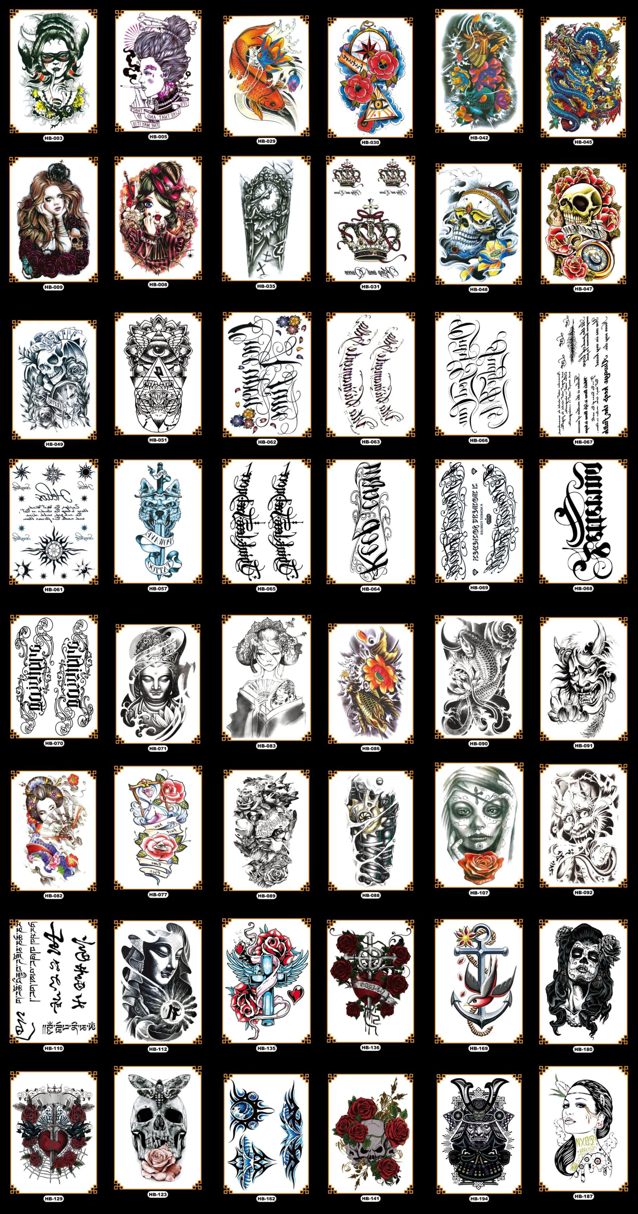 Tato Tatto temporary Tatto temporer Tatto lengan 21x15 cm GROSIR thumbnail