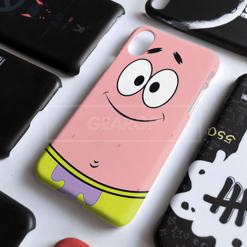 PENAWARAN Casing HP patrick spongebob Custom case iPhone 7 8 X Xs 6 6s XR 5