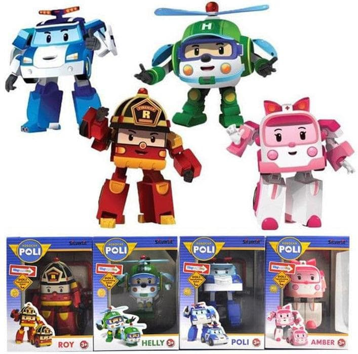 MURAH Unik Mainan anak Robocar Poli 1 set (isi 4) Robot Mobil Hadi 903b0a3905