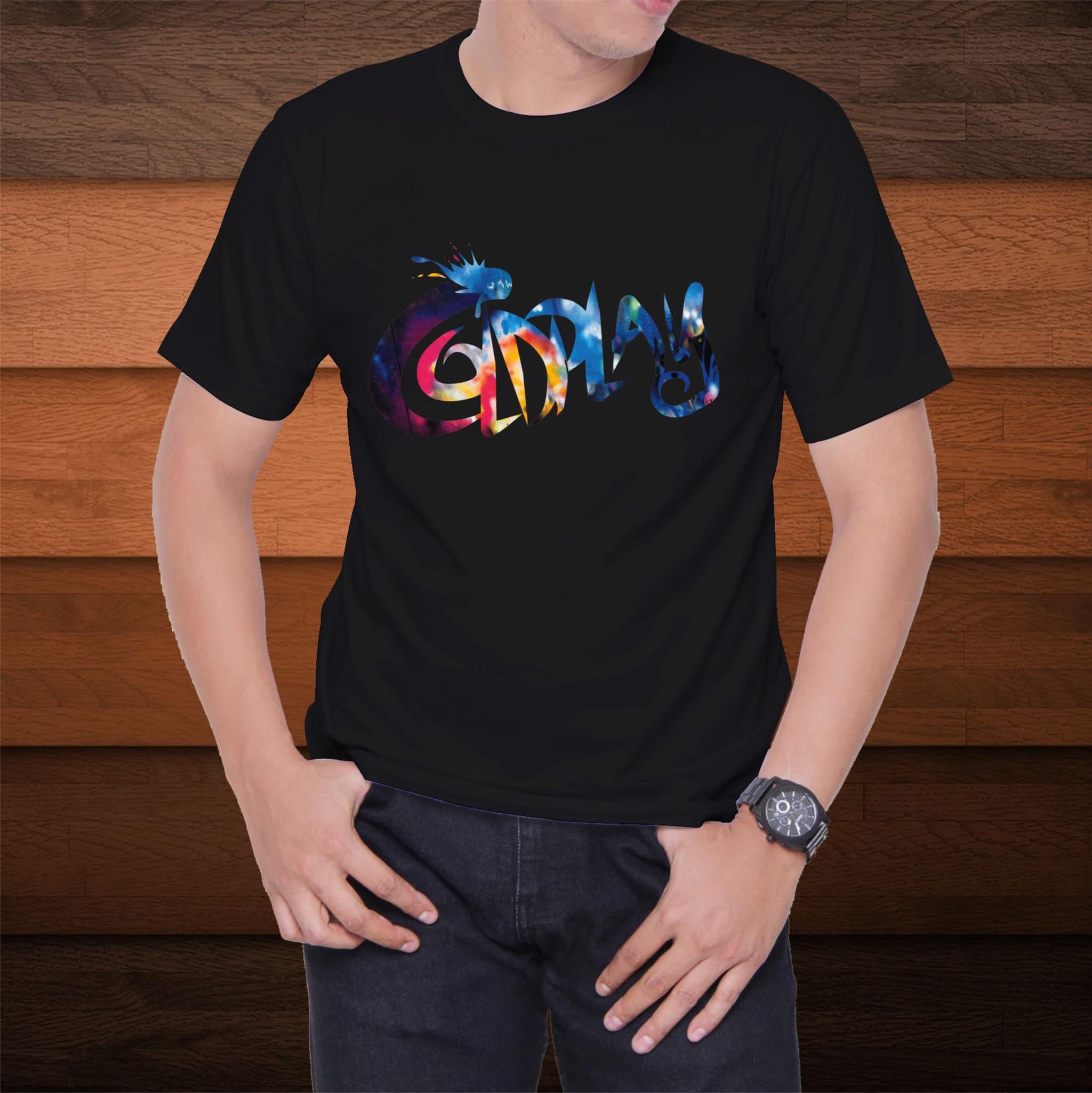 PENAWARAN Kaos Distro T-Shirt coldplay W6165 Ukuran M 78588b2fb8