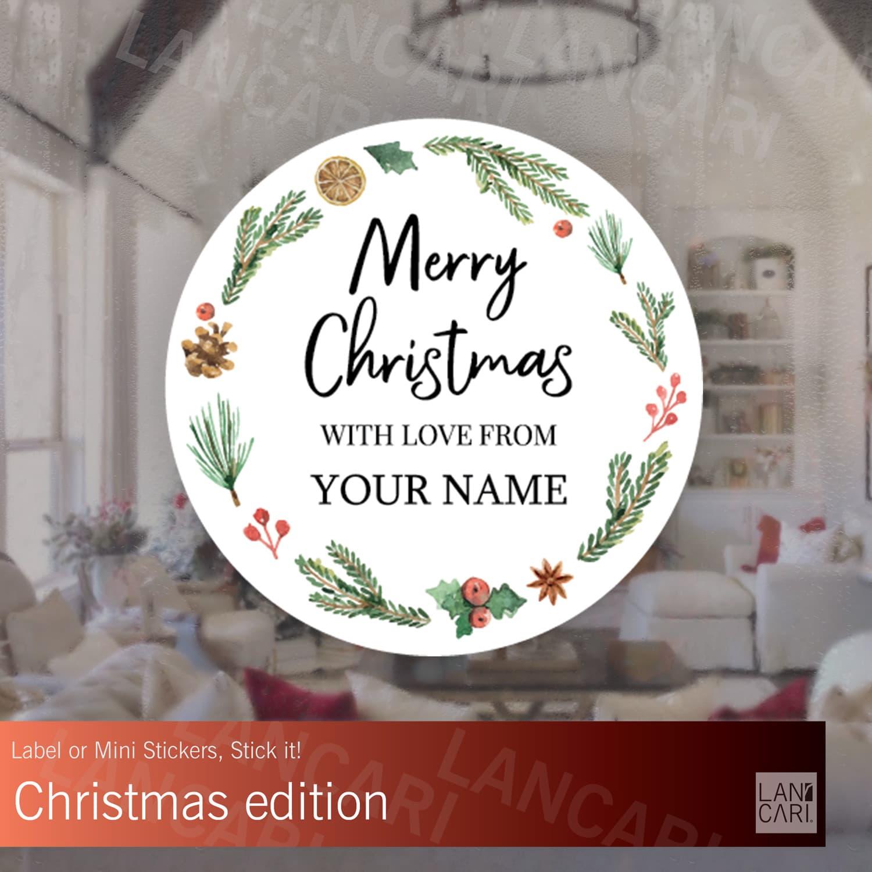 Jual stiker label natal christmas undangan amplop custom stickers snack small dki jakarta lancari tokopedia
