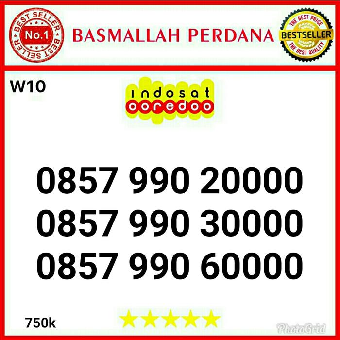 Nomor Cantik IM3 seri kwartet 0000 0857 990 20000 RWR12
