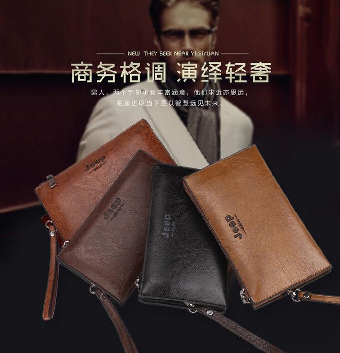 Jual Tas Tangan Dompet Kulit Pria JEEP Clutch Bag Original Import ... 6979903242