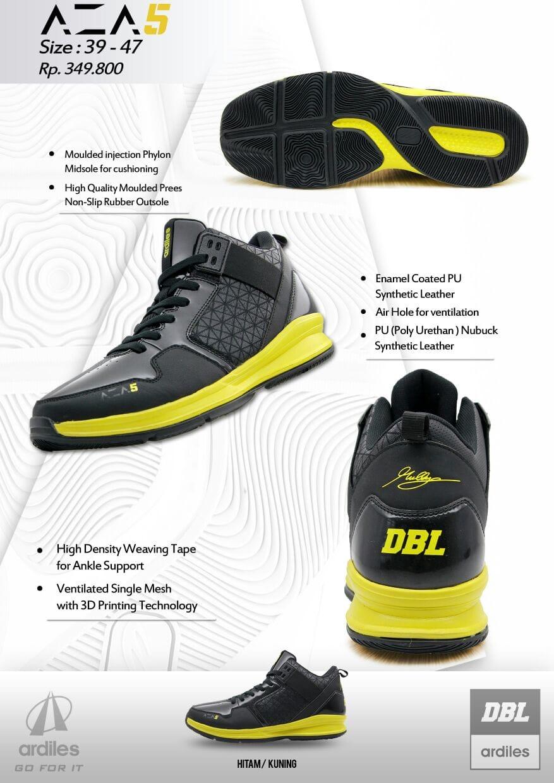 Jual Sepatu Basket Dbl Ardiles Aza5 Aza 5 Limited Edition Original Anak Lampu Eboy Black Dan