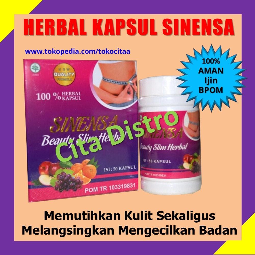 Jual Sinensa Beauty Slim Herbal Bpom Original Pelangsing Kapsul Aman Cita Distro Tokopedia