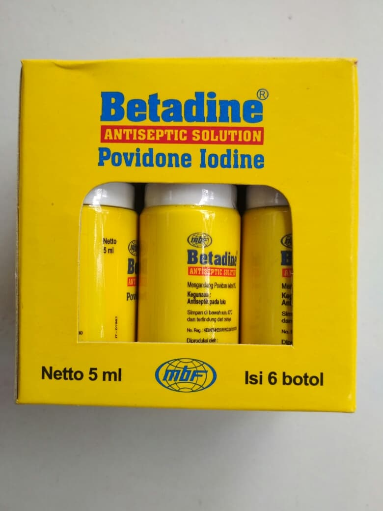 Jual Betadine Antiseptic 5ml Ama Uma Tokopedia 5 Ml