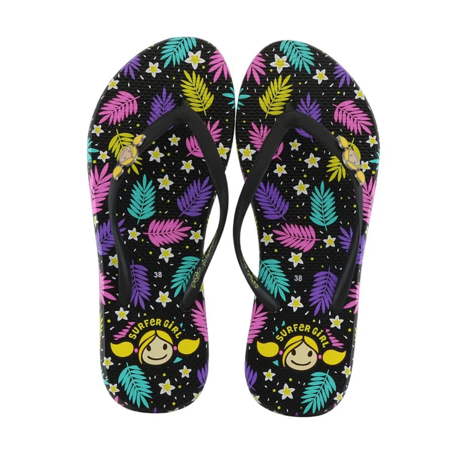 Sandal Surfer Girl Flip Flop Limited Edition SG 176 Hitam