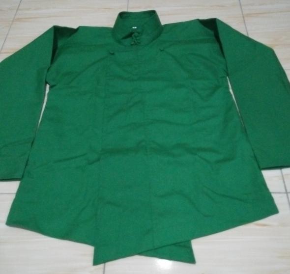 BELI Baju jawa surjan hijau polos uk XL 54355e95e0