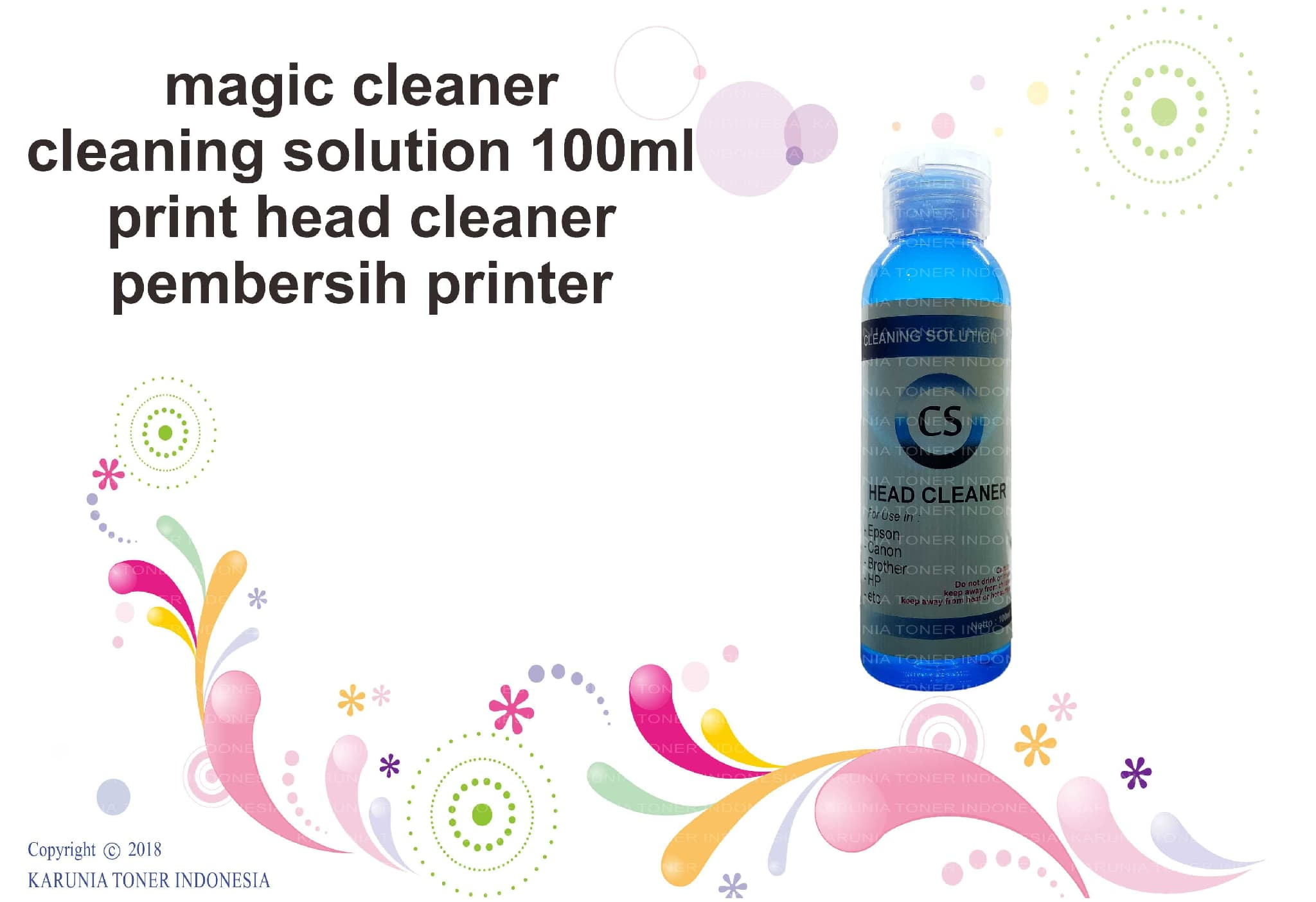 Jual cleaner cleaning solution 100ml / print head cleaner